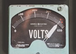 voltmeter showing voltage